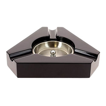 Black Triangular Cigar Ashtray