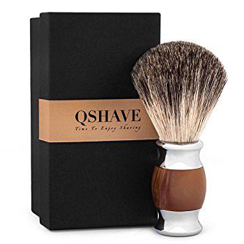 QSHAVE - Badger Hair Shaving Brush - Handmade